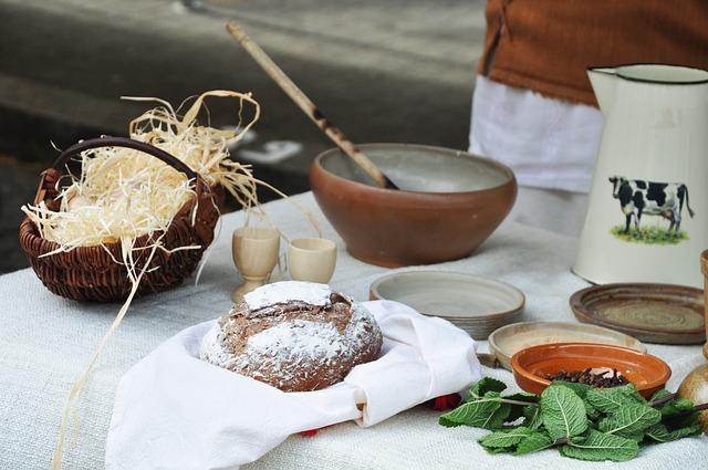 Häusliche Redewendungen - Essen im Mittelalter